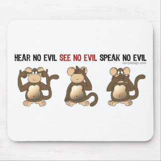 Tres monos sabios Mousepads Tapete De Ratón
