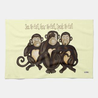 Tres monos sabios toallas de cocina