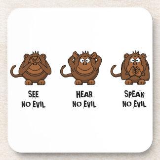 Tres monos sabios posavasos