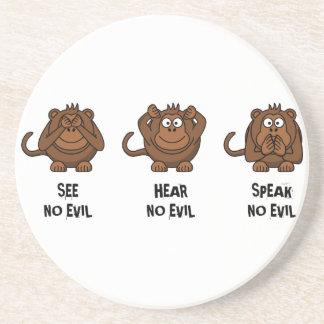 Tres monos sabios posavasos para bebidas