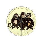 Tres monos sabios relojes