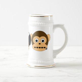 Tres monos sabios Stein Jarra De Cerveza