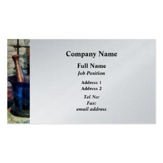 Tres mortero y majas - final del platino plantilla de tarjeta personal