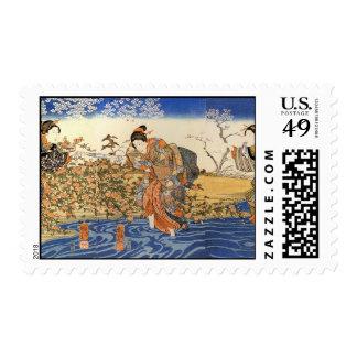 Tres mujeres japonesas sellos