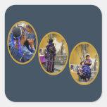 Tres mujeres mayas calcomanías cuadradas personalizadas