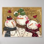 Tres muñecos de nieve poster