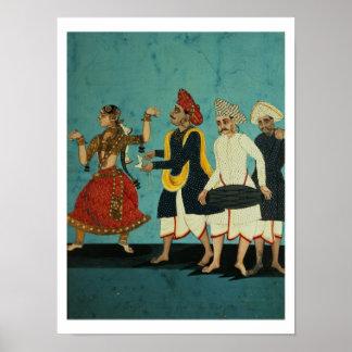 Tres músicos y un chica de baile, Tanjore, Tamil Póster