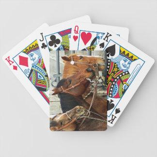 Tres naipes de las cabezas de caballo cartas de juego