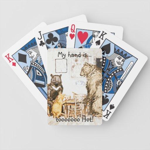 Tres naipes de los osos baraja cartas de poker