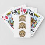 Tres naipes sabios de los monos cartas de juego