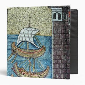 Tres naves que entran en el puerto de Ravena