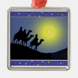 Tres navidad de los hombres sabios - ornamento ornamento para arbol de navidad