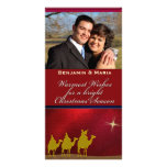 Tres navidad de los hombres sabios personalizó la  tarjetas fotográficas personalizadas