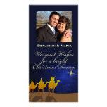 Tres navidad de los hombres sabios personalizó la  tarjeta fotografica