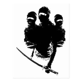 tres ninjas. post cards