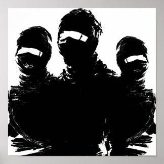 tres ninjas. poster