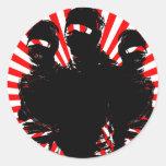 tres ninjas. stickers