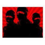 tres ninjas. tarjeta postal