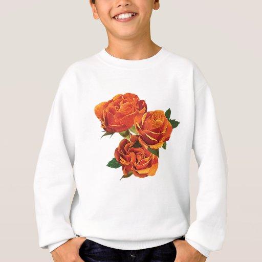 Tres niños anaranjados de los rosas sudadera