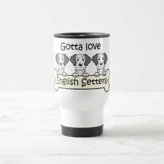 Tres organismos ingleses taza de café