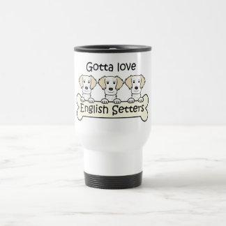 Tres organismos ingleses tazas de café