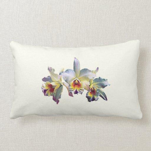 Tres orquídeas blancas cojines