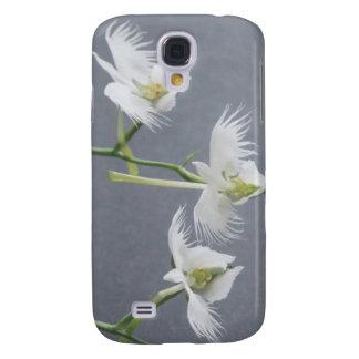 Tres orquídeas blancas del Egret Funda Para Galaxy S4