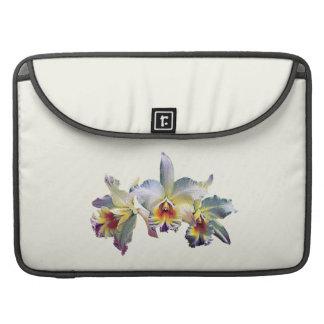 Tres orquídeas blancas fundas para macbook pro