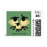 Tres ovejas en sello