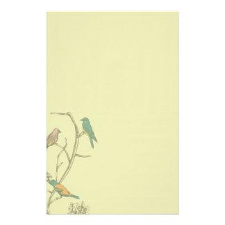 Tres pájaros que hablan el ~ inmóvil/papel con mem papelería de diseño