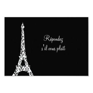 Tres Paris RSVP 3.5x5 Paper Invitation Card