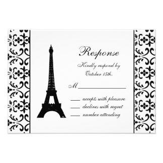 Tres Paris RSVP (white) Invite
