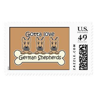 Tres pastores alemanes sello