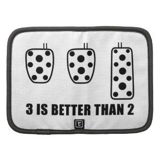 Tres pedales son mejores de dos organizador
