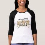 Tres Pekingese Camisetas