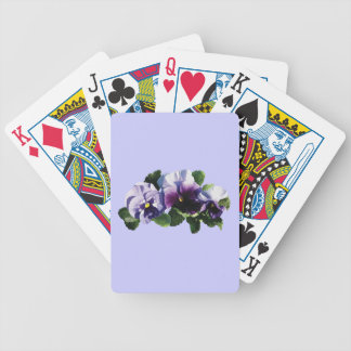 Tres pensamientos púrpuras baraja de cartas bicycle