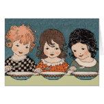 Tres pequeñas hermanas Notecard Tarjeta Pequeña