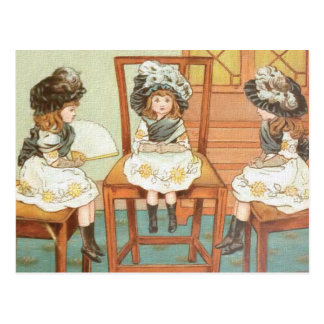 """Tres pequeñas hermanas "" Tarjeta Postal"