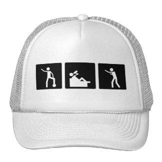 Tres pequeñas imágenes - hombres 10 gorra
