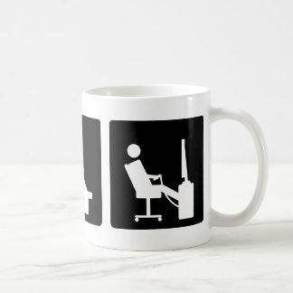 Tres pequeñas imágenes - hombres 8 taza de café