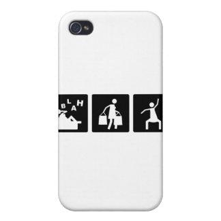 Tres pequeñas imágenes - mujeres 2 iPhone 4 fundas