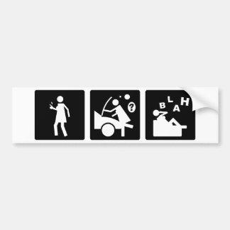 Tres pequeñas imágenes - mujeres 7 pegatina para auto