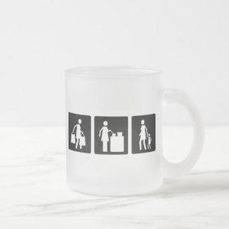 Tres pequeñas imágenes - mujeres 8 taza de café esmerilada