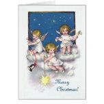 Tres pequeños ángeles felicitacion