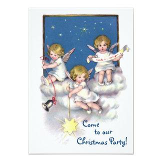 """Tres pequeños ángeles invitación 5"""" x 7"""""""