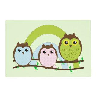 Tres pequeños búhos tapete individual