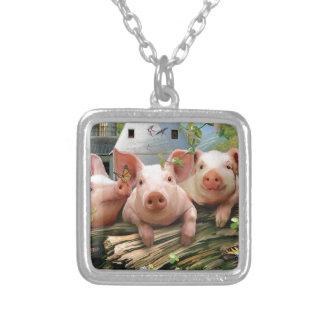 Tres pequeños cerdos colgante personalizado