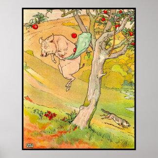 Tres pequeños cerdos: El cerdo saltado abajo Póster