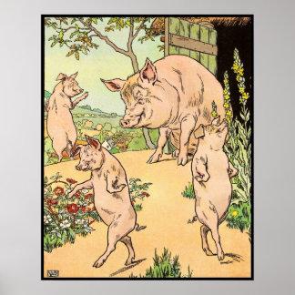 Tres pequeños cerdos: Ella los envió Póster