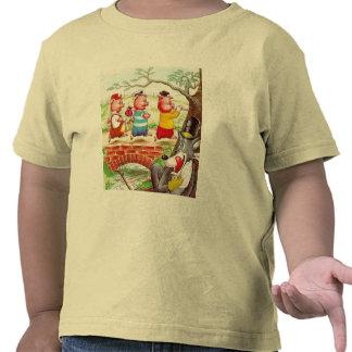 Tres pequeños cerdos camiseta
